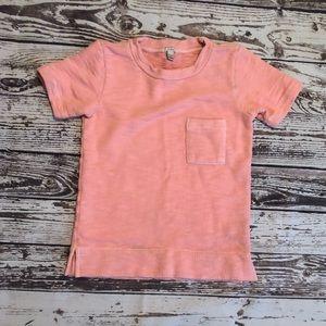 JCrew XXS Pink Short Sleeve Sweatshirt